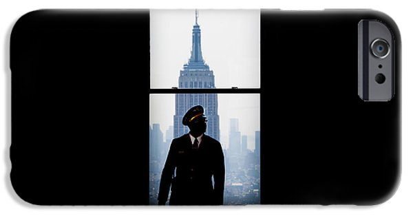 Empire State Building iPhone Cases - Guarding The Empire iPhone Case by Az Jackson