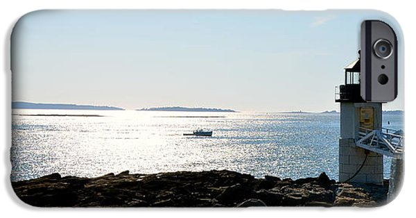 New England Lighthouse iPhone Cases - Guiding Light iPhone Case by Corinne Rhode