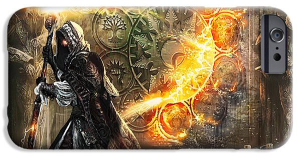 Fantasy Digital Art iPhone Cases - Guildscorn Ward iPhone Case by Ryan Barger