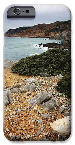 Atlantic iPhone Cases - Guincho Cliffs iPhone Case by Carlos Caetano