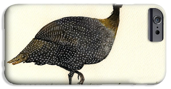 Fowl iPhone Cases - Guinea fowl iPhone Case by Juan  Bosco