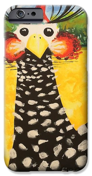 Conscious Paintings iPhone Cases - Guinea Love iPhone Case by Madison Latimer