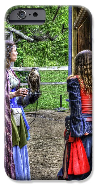 Weapon iPhone Cases - Guinevere Lady Hawk iPhone Case by John Straton