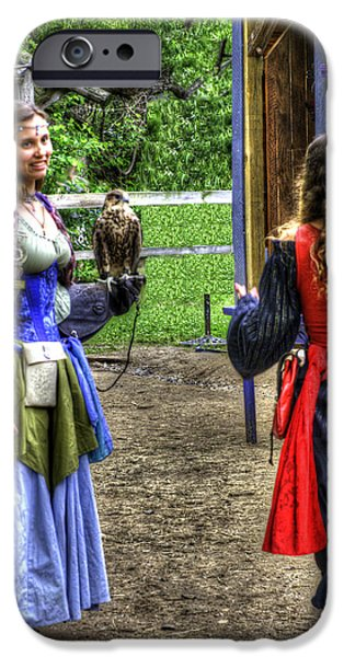 Weapon iPhone Cases - Guinevere Lady Hawk v2 iPhone Case by John Straton
