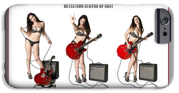 Electronic iPhone Cases - Guitar Goddess Mk 1 iPhone Case by Doug Matthews