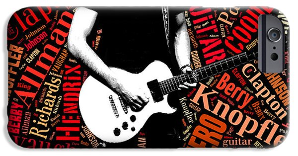 Keith Richards iPhone Cases - Guitar heroes iPhone Case by Lida Bruinen