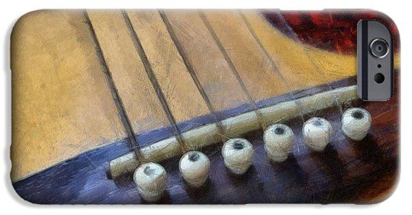 Guild iPhone Cases - Guitar iPhone Case by Michelle Calkins