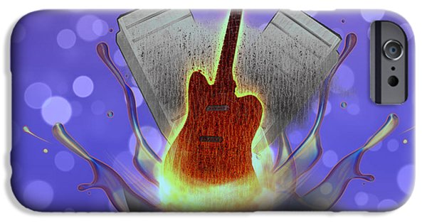 Electrical iPhone Cases - Guitar Splash iPhone Case by Becca Buecher