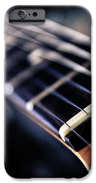 guitar strings iPhone Case by Stylianos Kleanthous