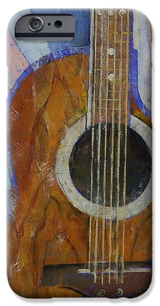 Michael iPhone Cases - Guitar Sunshine iPhone Case by Michael Creese