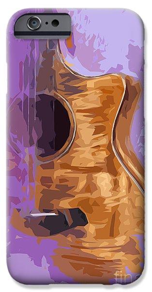 Beatles iPhone Cases - Guitarra acustica 1 iPhone Case by Pablo Franchi