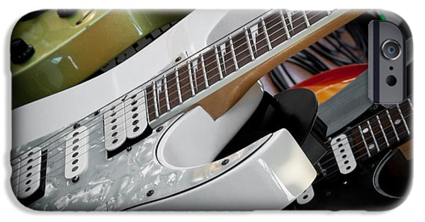 The Kingpins iPhone Cases - Guitars for Play iPhone Case by David Patterson