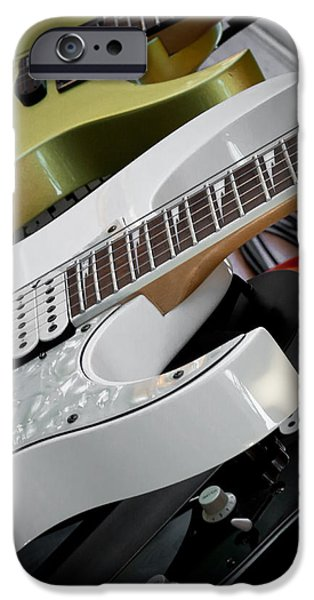 Guitars for Play iPhone Case by David Patterson