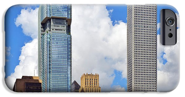 Financial Interest iPhone Cases - Gulf Building Houston Texas iPhone Case by Christine Till