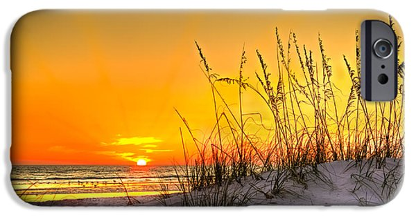 Gulf Of Mexico iPhone Cases - Gulf Sunset iPhone Case by Marvin Spates