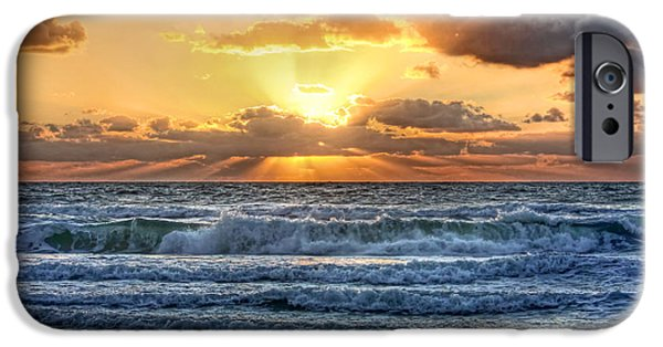 Ocean Sunset iPhone Cases - Gulf Waters iPhone Case by HH Photography