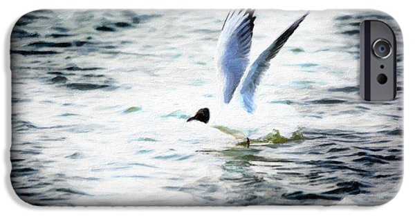 Flying Seagull iPhone Cases - Gull flying iPhone Case by Toppart Sweden