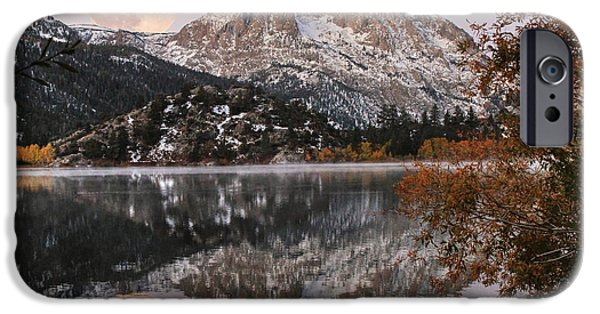 Mist iPhone Cases - Gull Lake Just Before Sunrise iPhone Case by Donna Kennedy