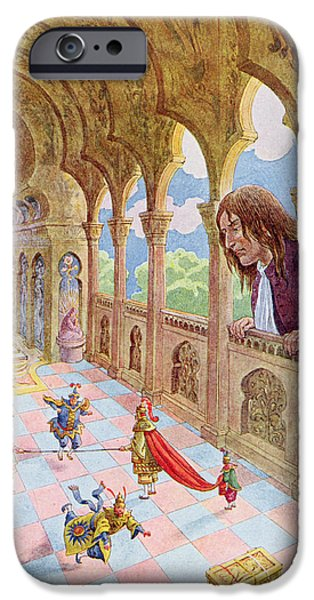 Balcony iPhone Cases - Gulliver at Lilliput iPhone Case by Jacques Onfray de Breville