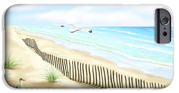 Ipad iPhone Cases - Gulls iPhone Case by Veronica Minozzi