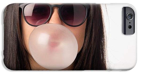 Silly iPhone Cases - Gum Girl iPhone Case by Carlos Caetano