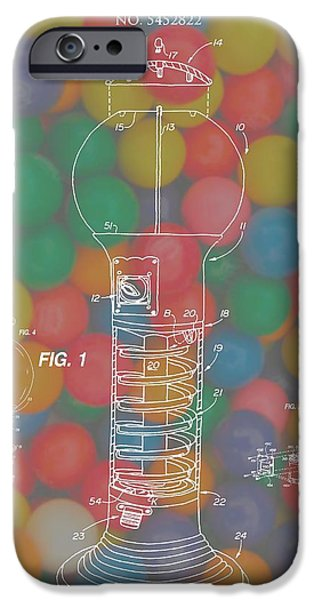 Toy Store Mixed Media iPhone Cases - Gumball Machine iPhone Case by Dan Sproul