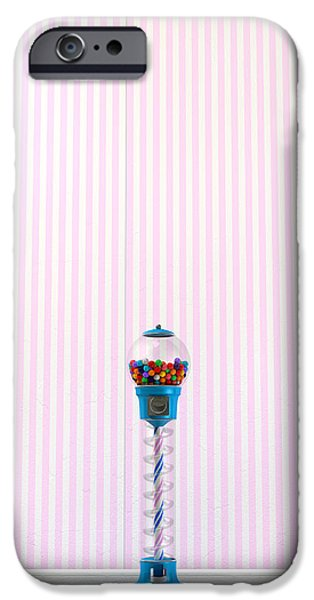Gumball Machine In A Candy Store iPhone Case by Allan Swart