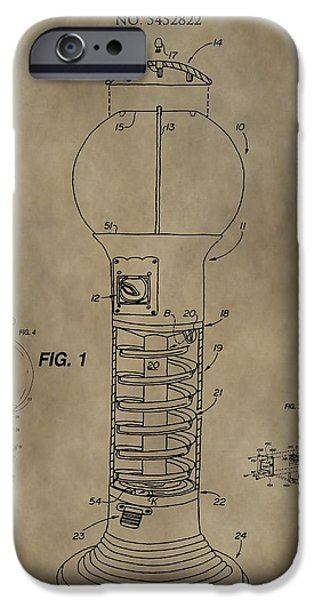 Toy Store iPhone Cases - Gumball Machine Patent iPhone Case by Dan Sproul