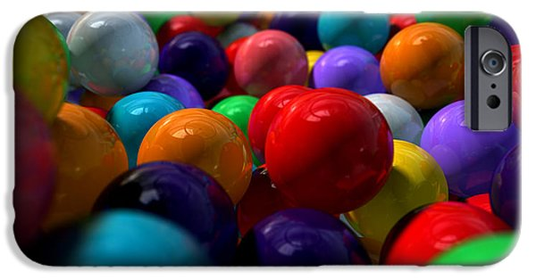 Round Digital iPhone Cases - Gumballs Up Close And Personal iPhone Case by Allan Swart