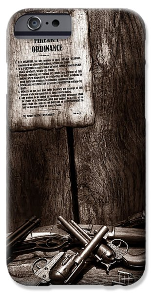 Law Enforcement iPhone Cases - Gun Control iPhone Case by American West Legend By Olivier Le Queinec