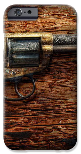 Gun - Police - True Grit iPhone Case by Mike Savad