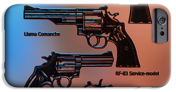 Police iPhone Cases - Gun iPhone Case by Victor Gladkiy
