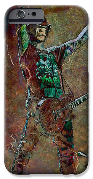 Band Photo iPhone Cases - Guns N Roses lead guitarist Dj Ashba iPhone Case by Loriental Photography