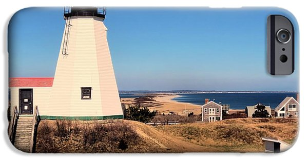Lighthouse iPhone Cases - Gurnet Lighthouse iPhone Case by Janice Drew