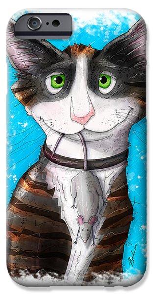 Cartoon Art iPhone Cases - Gus iPhone Case by Gary Bodnar