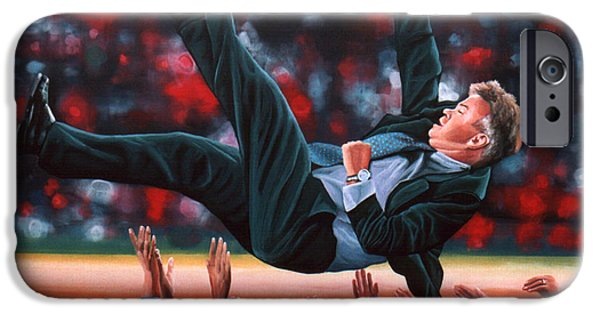 Celebrities Art iPhone Cases - Guus Hiddink iPhone Case by Paul Meijering