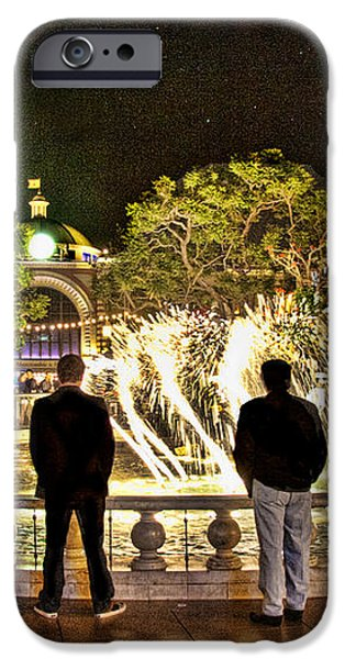 Guys At The Grove iPhone Case by Chuck Staley