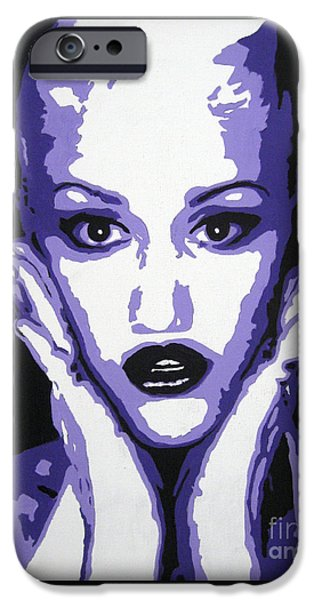 Modernism Mixed Media iPhone Cases - Gwen Stefani iPhone Case by Venus