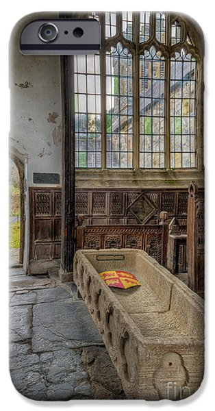 13th Century iPhone Cases - Gwydir Chapel iPhone Case by Adrian Evans