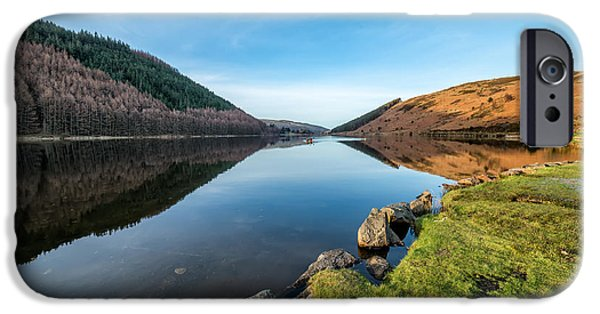 Canoe iPhone Cases - Gwydyr Forest Lake iPhone Case by Adrian Evans