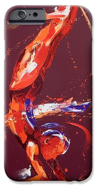 Dynamism iPhone Cases - Gymnast Five iPhone Case by Penny Warden