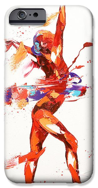 Dynamism iPhone Cases - Gymnast Four iPhone Case by Penny Warden