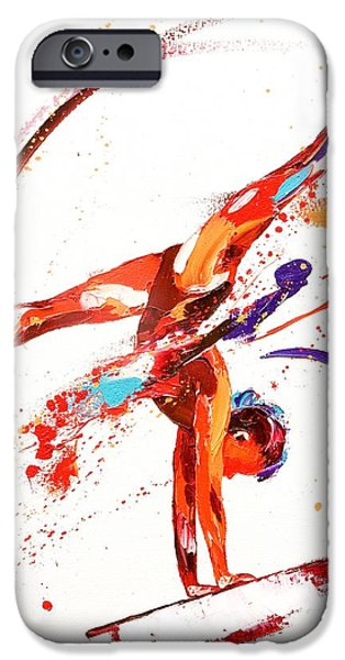 Dynamism iPhone Cases - Gymnast One iPhone Case by Penny Warden