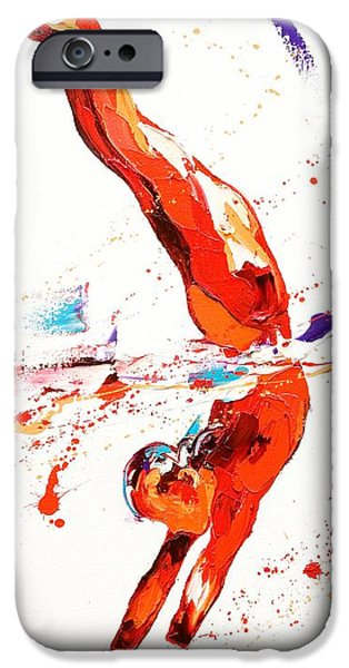 Dynamism iPhone Cases - Gymnast Three iPhone Case by Penny Warden