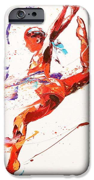 Dynamism iPhone Cases - Gymnast Two iPhone Case by Penny Warden