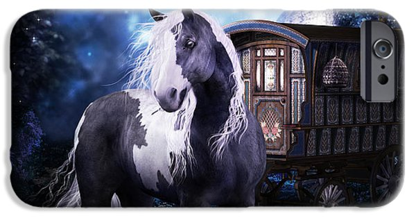 Gypsy Digital iPhone Cases - Gypsy Dreaming iPhone Case by Shanina Conway