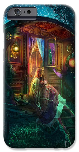 Atmospheric iPhone Cases - Gypsy Firefly iPhone Case by Aimee Stewart