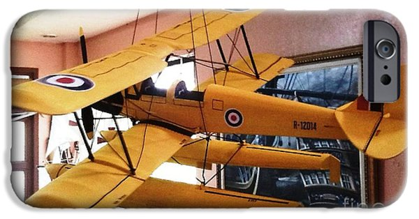 Ww1 Paintings iPhone Cases - Gypsy Moth iPhone Case by Richard John Holden