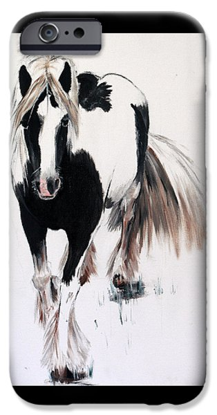 Horse iPhone Cases - Gypsy Vanner iPhone Case by Isabella F Abbie Shores LstAngel Arts