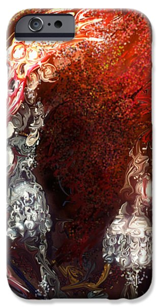 Jewellery Digital Art iPhone Cases - Gypsy Woman iPhone Case by Shubnum Gill
